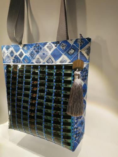 Grand sac thème Klimt Bleu