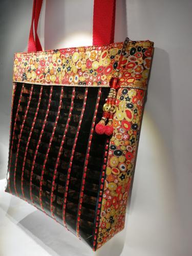Grand sac thème Klimt Rouge et doré