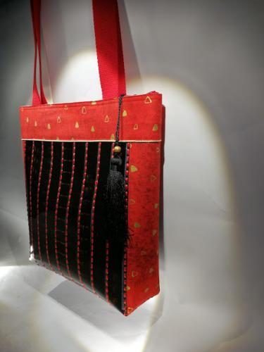 Grand sac thème Klimt Rouge
