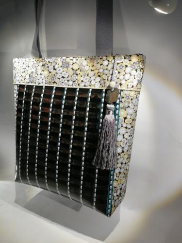 Grand sac thème Klimt Gris et doré