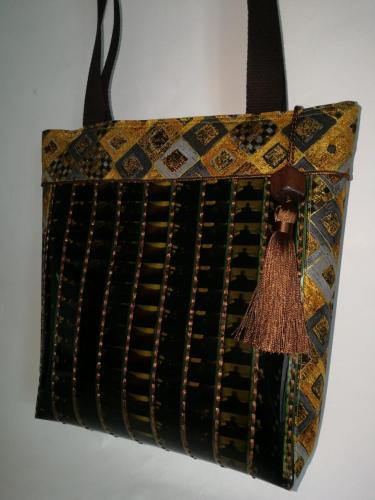 Grand sac thème Klimt doré